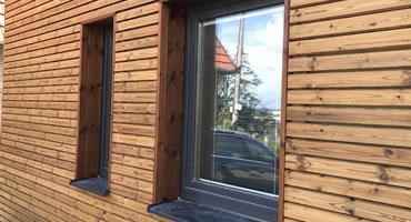 Drevená fasáda – Termo Borovica prevedenie Rombus