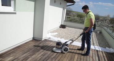 Čistenie Agátovej terasy - Decking Oil Hnedý