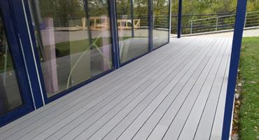 Terasa Twinson drevo-plast - dekór 509 šedá (dutý profil)