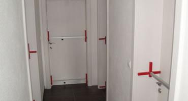 Odolné laminátové dvere CPL, model plné A-1, dekór Biela premium W1000 ST22