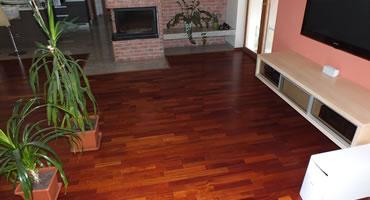 Exotická drevená podlaha Jatoba, 3 Lamela, LAK