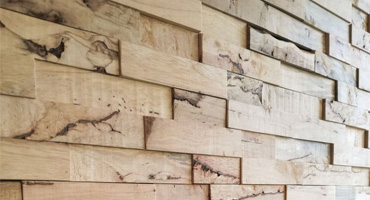 3D drevený interiérový obklad z dreviny Hevea