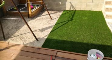Umelá tráva vhodná na detské ihrisko